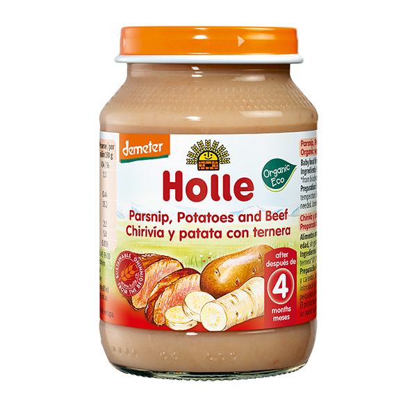 Holle Organic Parsnip, Potatoes and Beef Baby Food