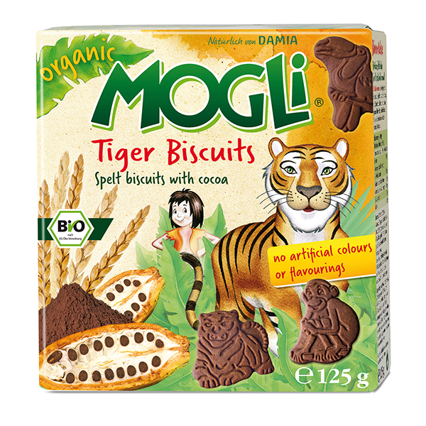 Mogli's Organic Tiger Biscuits with Cocoa