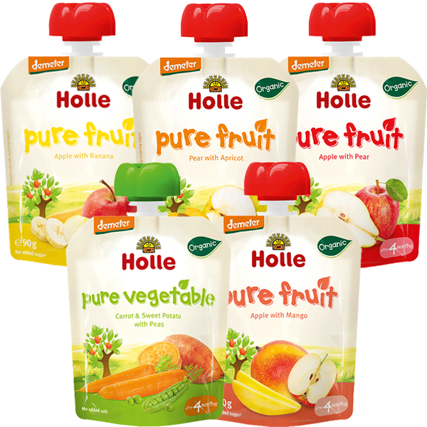 Holle Organic Mixed Weaning Pouchy Variety Pack