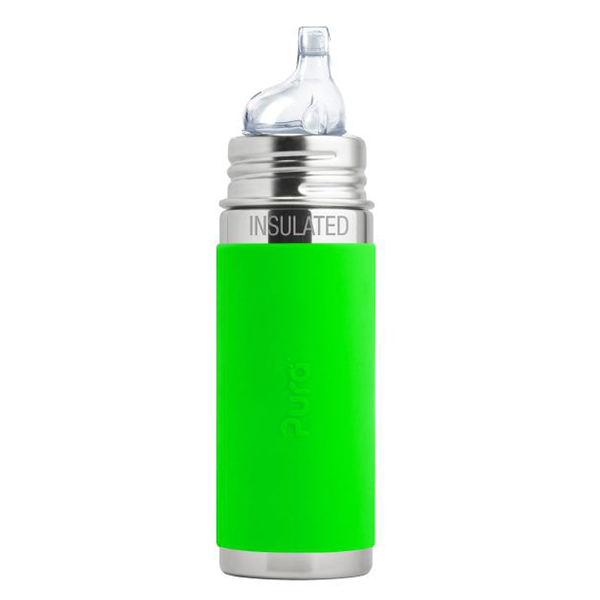 Pura Kiki 9oz Vacuum Insulated Sippy Bottle - Green Sleeve