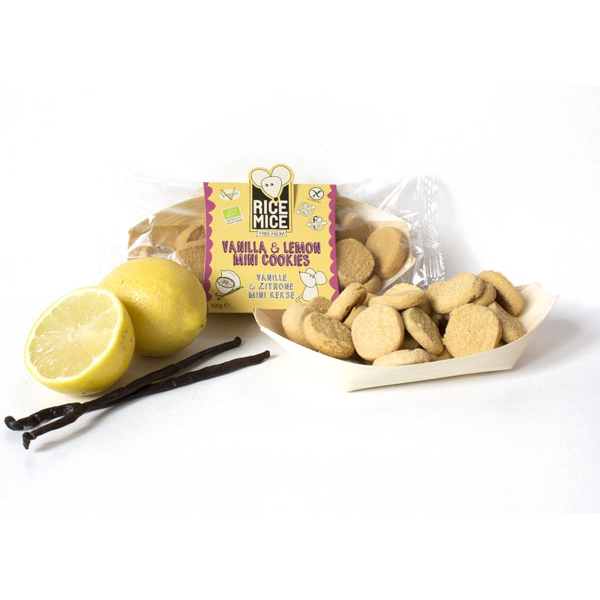 Rice Mice Gluten Free Vanilla & Lemon Mini Cookies