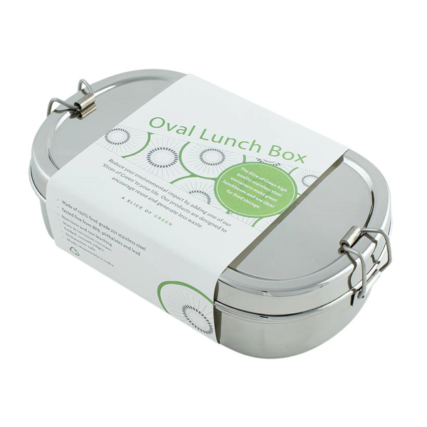Stainless Steel Oval Lunch Boxes with Mini Container