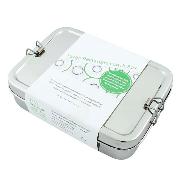 Stainless Steel Rectangle Lunch Box with Mini Container
