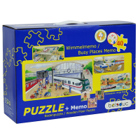 Beleduc Wooden Floor Puzzle & Memory Game
