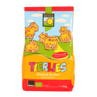 Bohlsener Mill Organic Tierlies Animal Shaped Spelt Biscuits