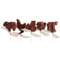 Cocoa Loco Organic Milk Chocolate Farmyard Lolly