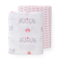 Fresk Multi-use Organic Swaddling Blanket Set (2pk) - Elephant