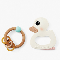 Hevea Natural Rubber Kawan Teether / Rattle Gift Set