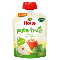 Holle Baby Food Pouches - Pear with Apple & Spinach