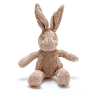 Organic Brown Cable Knit Bunny