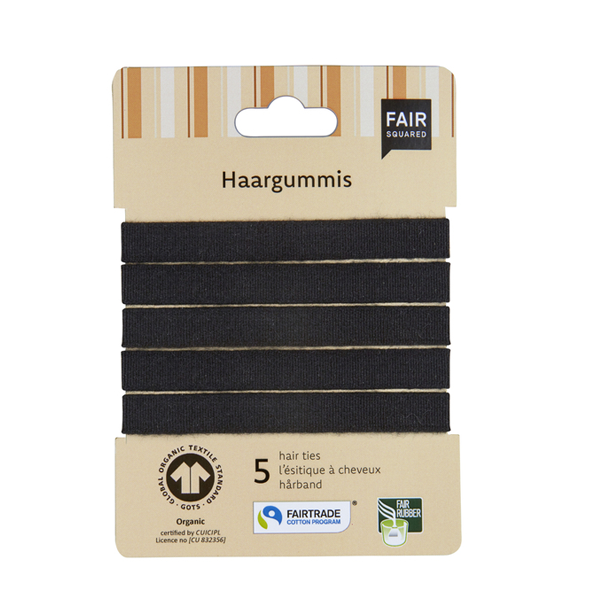Fair Squared Hair Bands Black