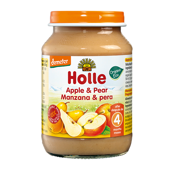 Holle Organic Apple & Pear Baby Food