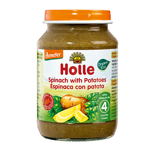 Holle Organic Spinach with Potatoes Baby Food