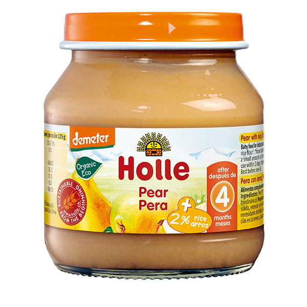 Holle Organic Pear Baby Food