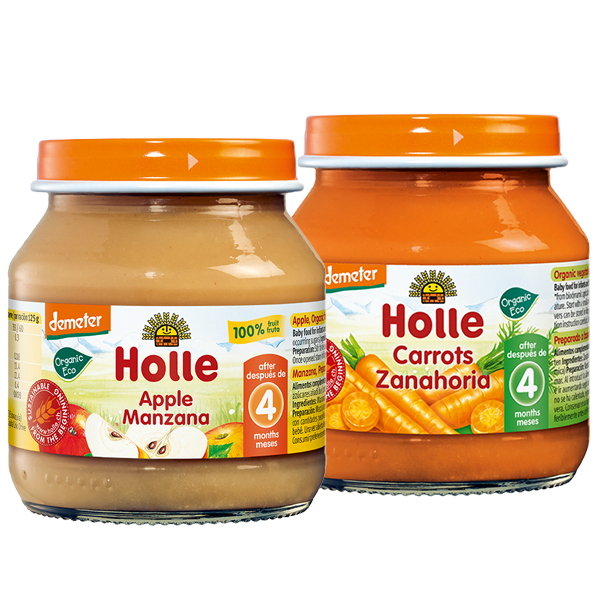 Holle Organic Baby Weaning Starter Mixed Jars Pack