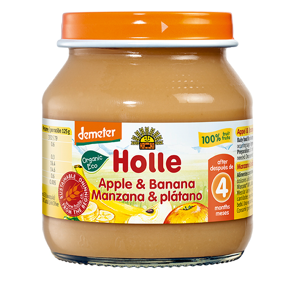 Holle Organic Apple & Banana Baby Food