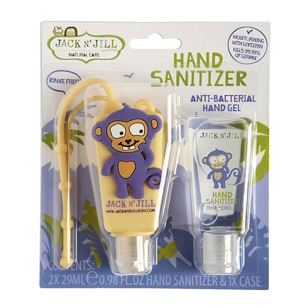 Jack N' Jill Monkey Hand Sanitiser x 2 with Holder