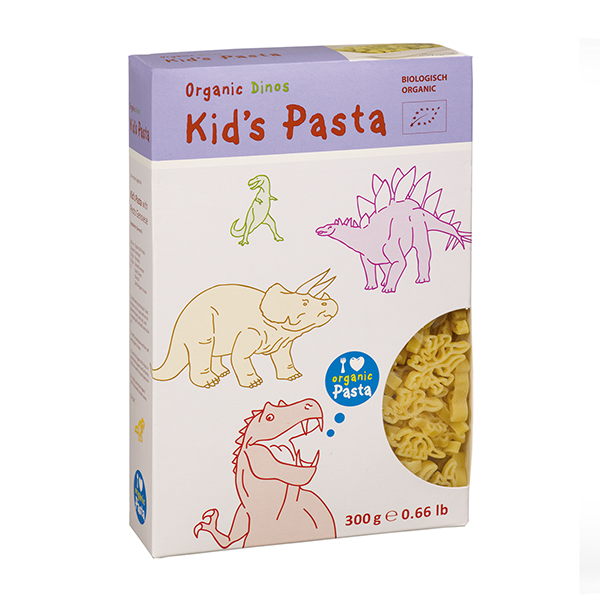 Alb-Gold Organic Pasta for Babies and Kids - Dinosaur Shapes