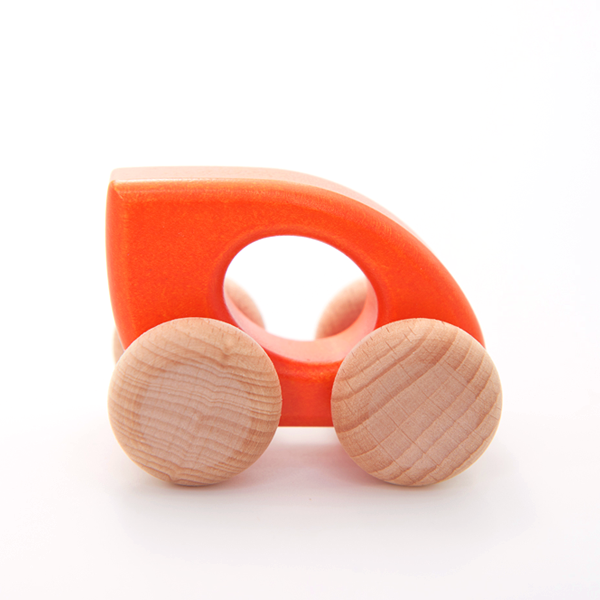 Bajo Wooden Leaf Car - Orange