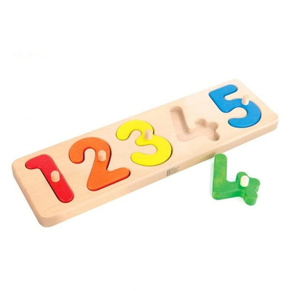 Bajo Wooden Number Sorting Board