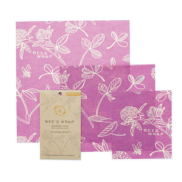 Bee's Wrap Set of 3 Assorted Size Wraps - Clover