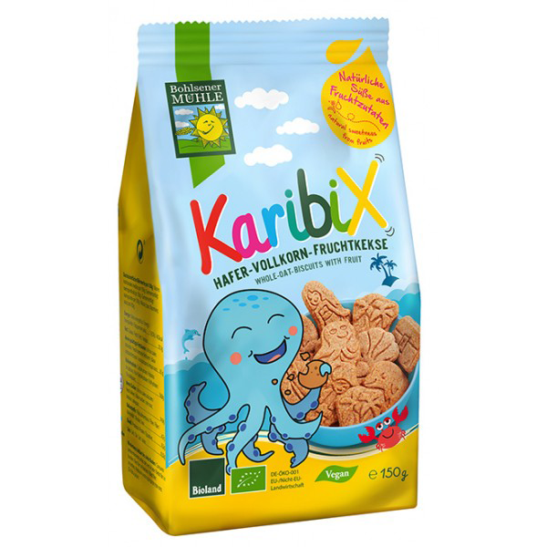 Bohlsener Mill Organic Karibix Ocean Shaped Oat Biscuits