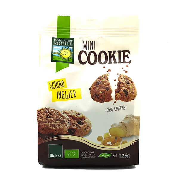 Bohlsener Mill Organic Chocolate and Ginger Mini Cookie