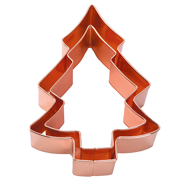 Christmas Tree Copper Cookie Cutter Set of 2