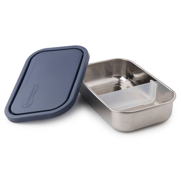 Divided Rectangle Stainless Steel Containers - Ocean