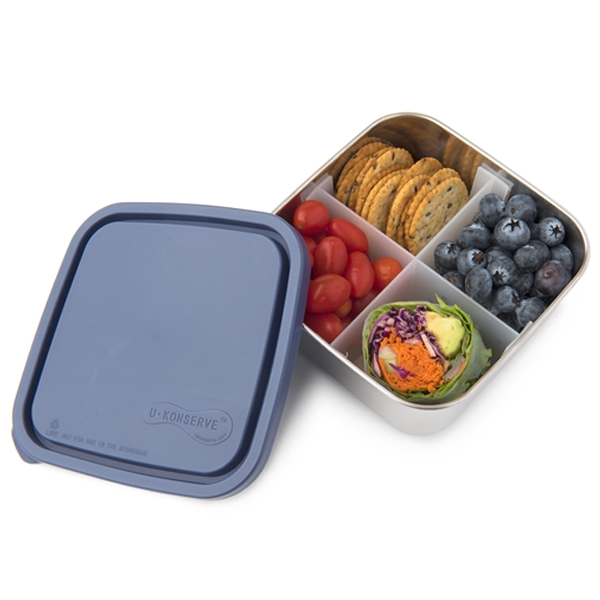 Divided To-Go Medium Stainless Steel Container - Ocean