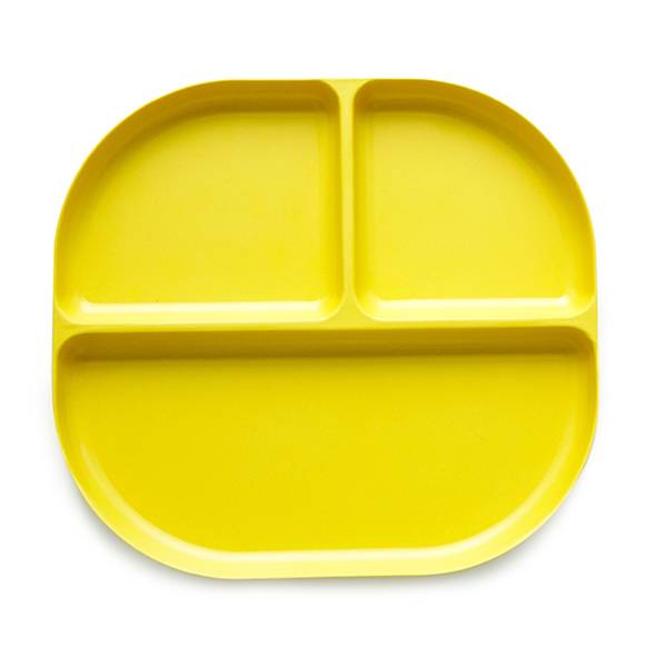 Ekobo Bambino Divided Tray Lemon