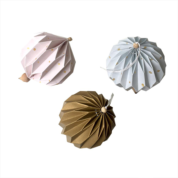 Fabelab Paper Globe Ornaments