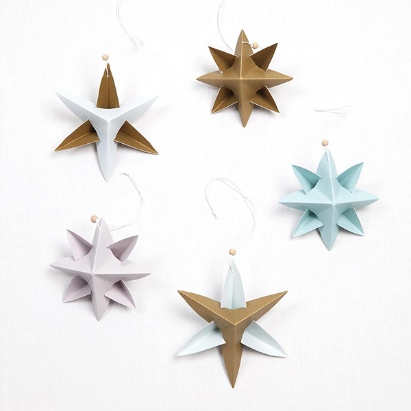 Fabelab Paper Star Ornaments Kit