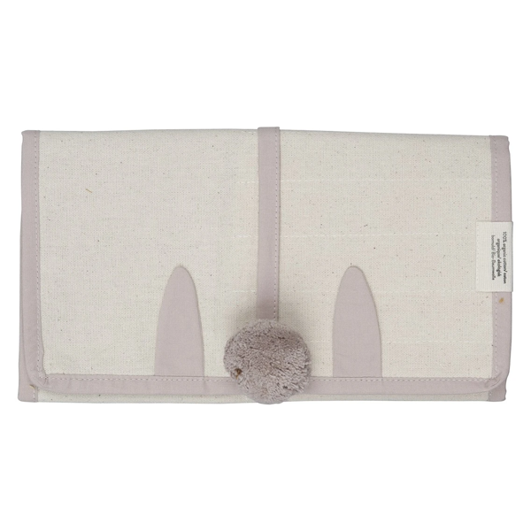 Fabelab Organic Roll up Pencil Case Bunny - Mauve
