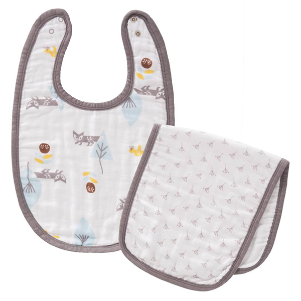 Fresk Organic Bib & Burp Set - Fox