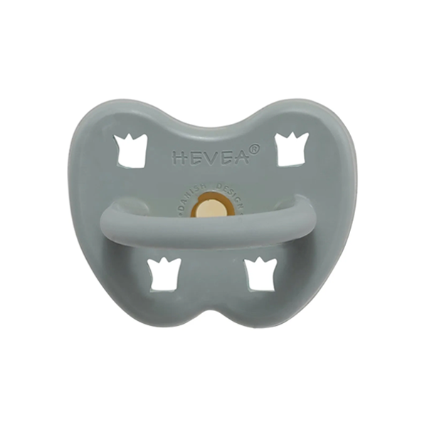 Hevea Natural Round Soother Gorgeous Grey 3-36 months
