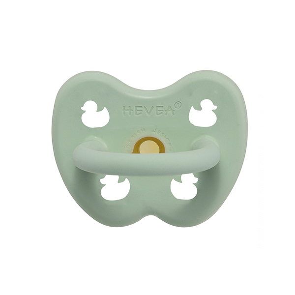 Hevea Natural Round Soother Mellow Mint 0-3 months
