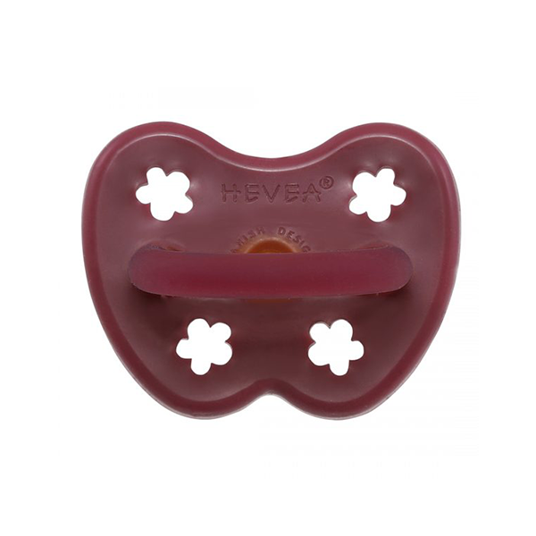 Hevea Natural Round Soother Ruby 3-36 months