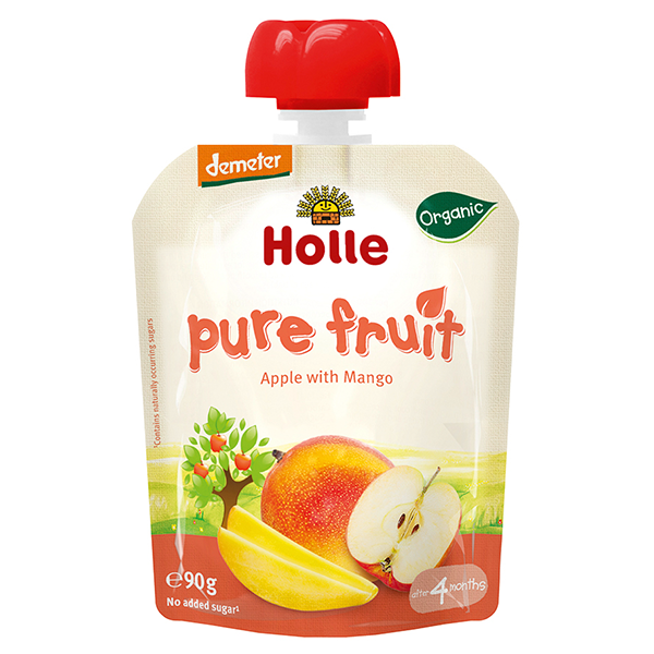 Holle Baby Food Pouches - Apple with Mango