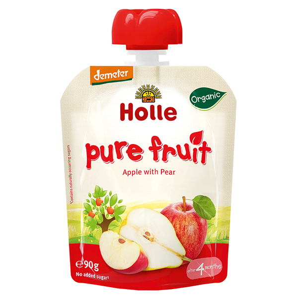 Holle Baby Food Pouches - Apple with Pear