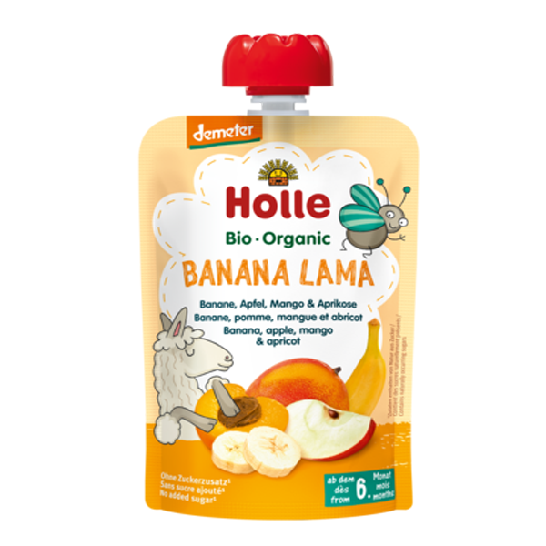 Holle Organic Baby Food Pouches - Banana Lama