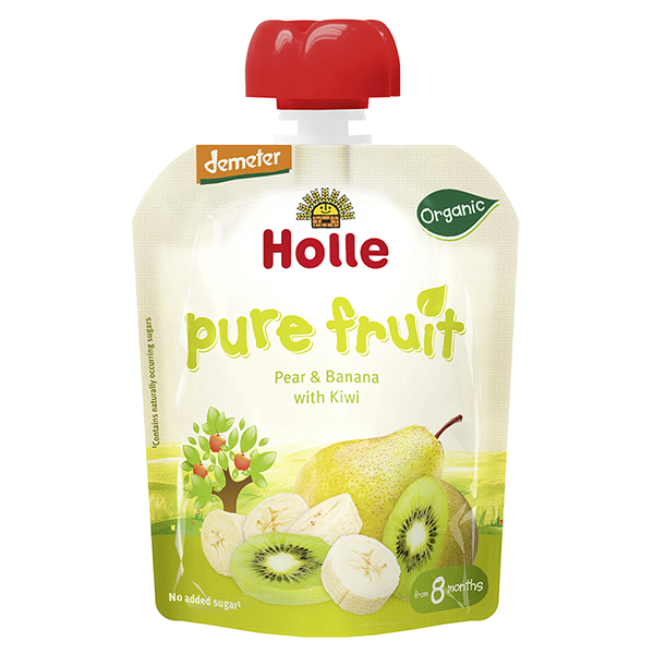 Holle Organic Baby Pouches Pear & Banana with Kiwi