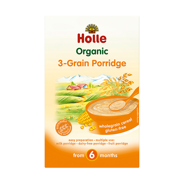 Holle Organic 3 Grain Baby Porridge (crumpled corners)