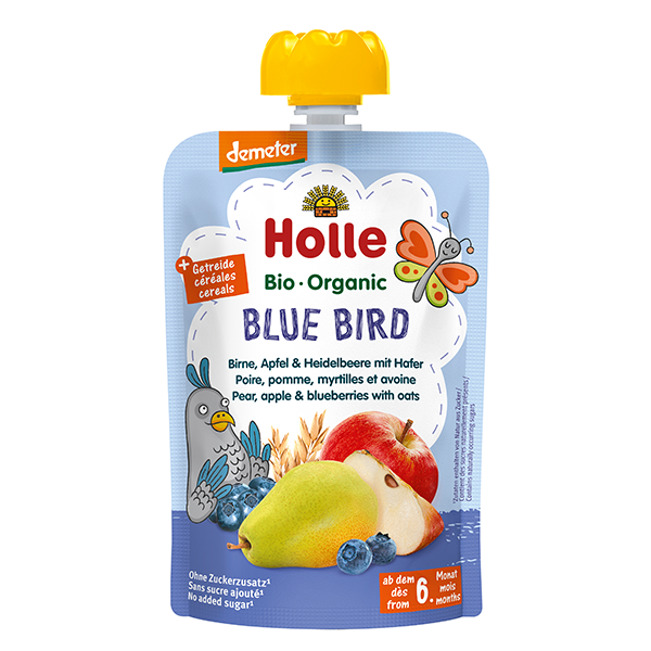 Holle Organic Baby Food Pouch - Blue Bird
