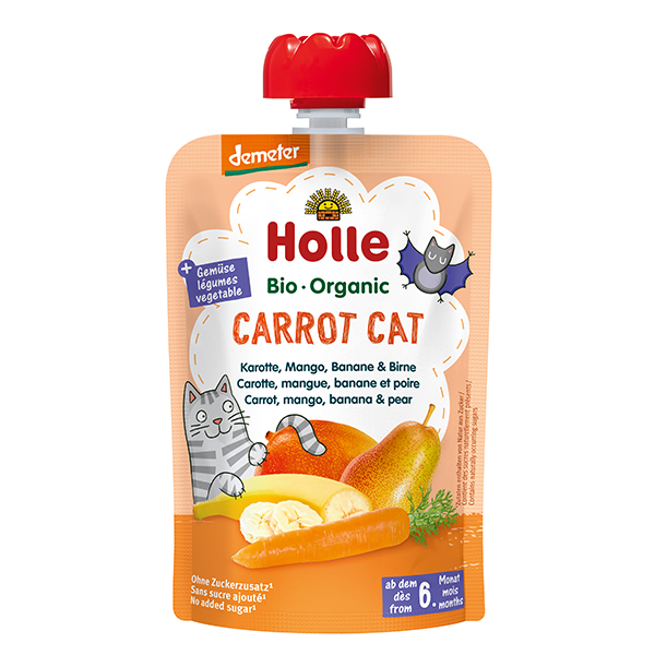 Holle Organic Baby Food Pouch - Carrot Cat