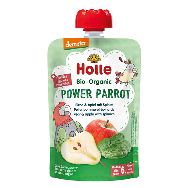 Holle Organic Baby Food Pouch - Power Parrot