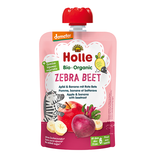 Holle Organic Baby Food Pouch - Zebra Beet
