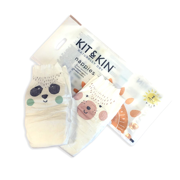 Kit & Kin Eco Disposable Nappies Sample Pack of 2 Nappies