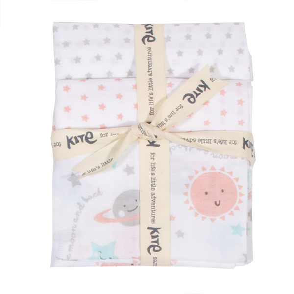 Kite Organic Love You 3 pack Muslins