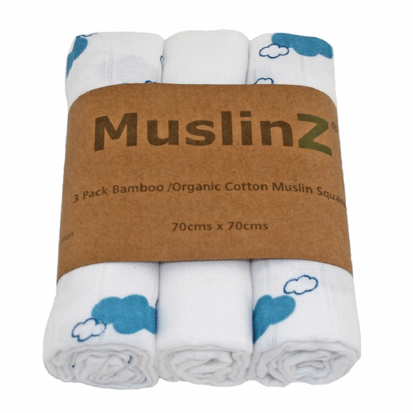 Muslin squares are also very versatile and can be used as burp cloths, washcloths, lovies etc. They become incredibly soft with washing. The Disana muslin cloths are made up of three interwoven layers of beautiful organic cotton muslin making them extra soft and absorbent.